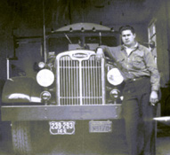 Herman Ewell, Founder with a vintage tanker